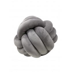 Knotenkissen Grau groß