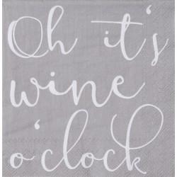 Cocktailserviette Wine O'clock