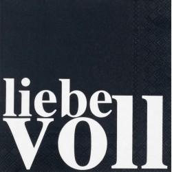 Serviette Liebevoll