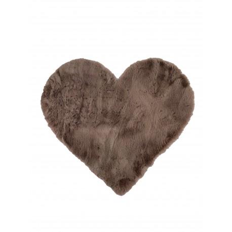 Rosa Teppich Herz aus Fell