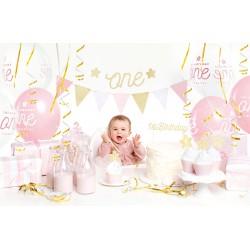 Deko Set 1. Geburtstag rosa