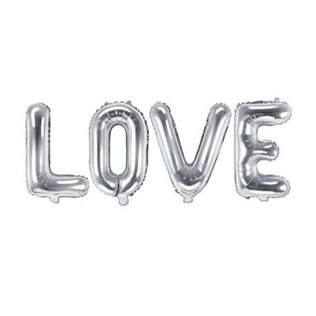 Ballon Schriftzug LOVE silber