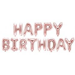 Ballon Schriftzug Happy Birthday rosegold