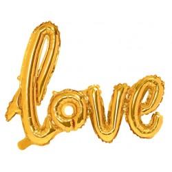 Ballon Schriftzug Love Gold