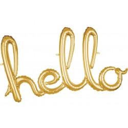 Ballon Schriftzug Hello Gold