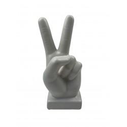 Peace Zeichen Skulptur