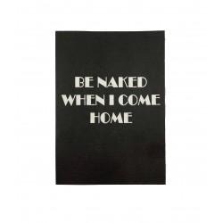 """Postkarte schwarz """"naked"""""""